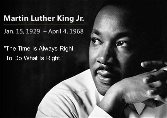 Image result for mlk quotes the time is always right