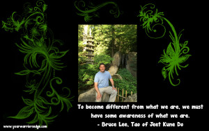 Alain Japanese Garden with Bruce Lee quote