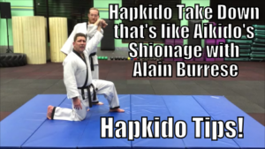 Hapkido Take Down that's like Aikido's Shionage with Alain Burrese cover